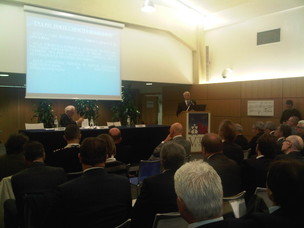 A moment of the debate on Italy's Plan for Logistics