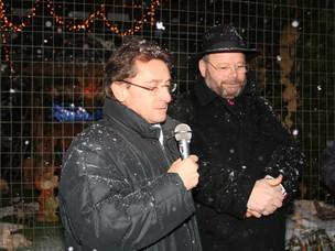 Il dott. Franco Sensini e Don Dino Pistolato