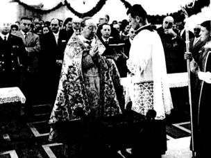 Mons. Augusto Gianfranceschi former President Mariport inl 1961