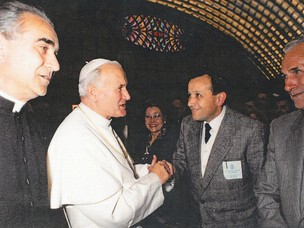 Papa Giovanni Paolo II with Mariport President