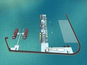 Rendering of the offshore terminal