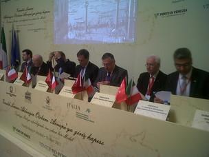 I relatori del convegno Il Gateway di Venezia per le autostrade del Mediterraneo