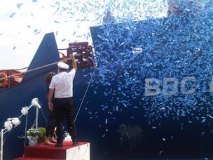 L'inaugurazione della nave
