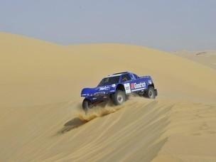 Un mezzo all'edizione 2010 del Rally dei Faraoni