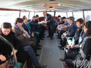 The vietnamese delegation visited the Port of Venice