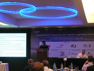 The Port of Venice at the India Port expansion and capacity upgrading summit in Chennai