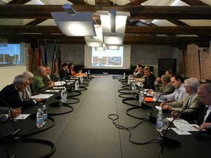 Un momento della presentazione alla comunità portuale di Venezia