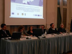 I relatori dell'evvento che si è tenuto a Montecchio Maggiore il 5 dicembre