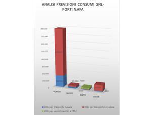Previsione consumo GNL nei porti NAPA riassunto complessivo con scenario a regim