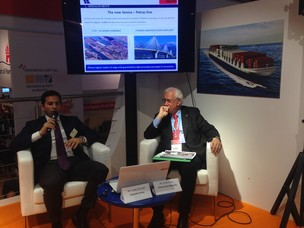 aolo Costa, APV President, and Guido Grimaldi, Corporate Short Sea Shipping Comm