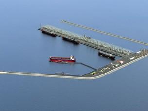 Rendering del terminal offshore