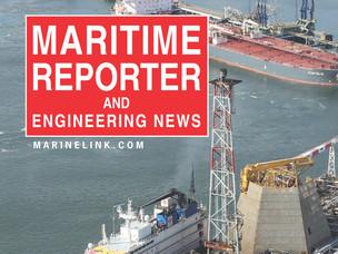 Un particolare della copertina del numero di settembre di Maritime Reporter