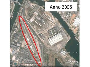 L'area nel 2006 prima della bonifica