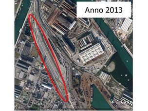 L'area nel 2013 dopo le attività di bonifica