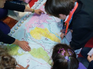 I bambini alla scoperta degli esploratori