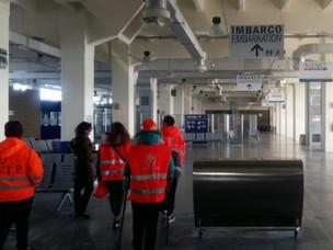Gli studenti in visita a Venezia Terminal Passeggeri