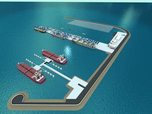 Rendering - progetto terminal d'altura