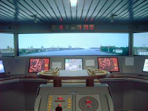 Simulazione nave in partenza da Venezia