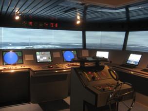 Simulazione nave in navigazione nel Nord Adriatico